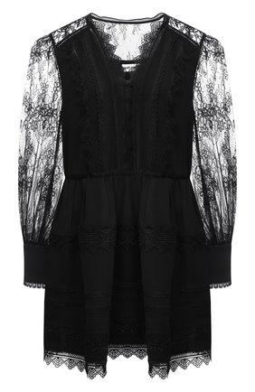 Женское платье из вискозы SELF-PORTRAIT черного цвета, арт. RS21-129 | Фото 1