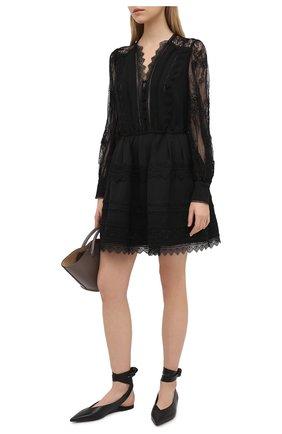 Женское платье из вискозы SELF-PORTRAIT черного цвета, арт. RS21-129 | Фото 2
