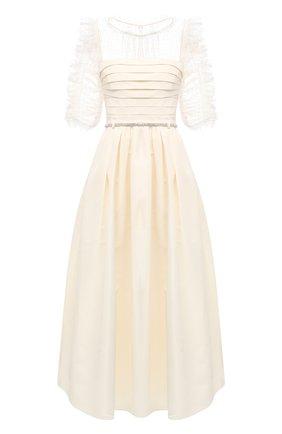Женское платье SELF-PORTRAIT кремвого цвета, арт. RS21-043M | Фото 1