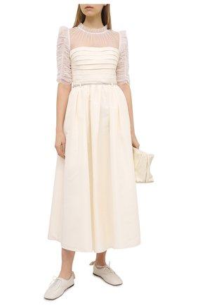 Женское платье SELF-PORTRAIT кремвого цвета, арт. RS21-043M | Фото 2
