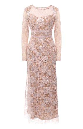 Женское платье SELF-PORTRAIT светло-розового цвета, арт. RS21-008 | Фото 1