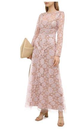 Женское платье SELF-PORTRAIT светло-розового цвета, арт. RS21-008 | Фото 2