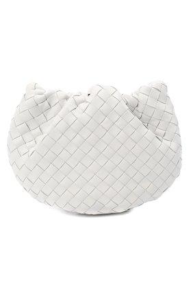 Женская сумка bulb mini BOTTEGA VENETA белого цвета, арт. 651905/V08Z1   Фото 1 (Материал: Натуральная кожа; Сумки-технические: Сумки через плечо; Размер: mini)