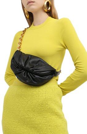 Женская поясная сумка the belt chain pouch BOTTEGA VENETA черного цвета, арт. 651445/VCP41 | Фото 2
