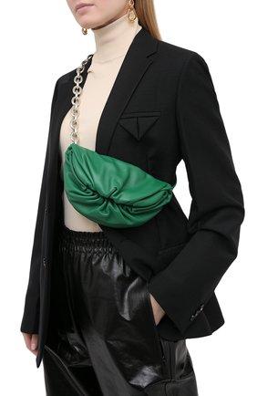 Женская поясная сумка the belt chain pouch BOTTEGA VENETA зеленого цвета, арт. 651445/VCP41 | Фото 2