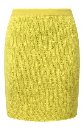 Женская юбка из шерсти и кашемира BOTTEGA VENETA светло-зеленого цвета, арт. 648832/V0BU0 | Фото 1