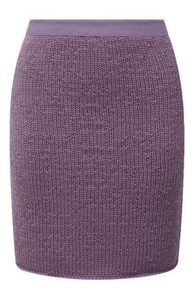 Женская юбка из шерсти и кашемира BOTTEGA VENETA сиреневого цвета, арт. 648832/V0BU0 | Фото 1