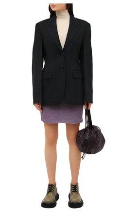 Женская юбка из шерсти и кашемира BOTTEGA VENETA сиреневого цвета, арт. 648832/V0BU0 | Фото 2