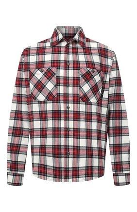 Мужская хлопковая рубашка OFF-WHITE красного цвета, арт. 0MGA133R21FAB002   Фото 1