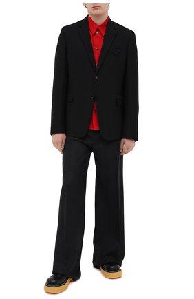 Мужские кожаные дерби bounce BOTTEGA VENETA черного цвета, арт. 651259/V00H0 | Фото 2 (Материал внутренний: Натуральная кожа; Стили: Классический)