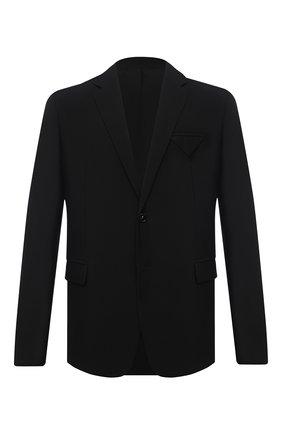 Мужской шерстяной пиджак BOTTEGA VENETA черного цвета, арт. 647373/V0B30   Фото 1