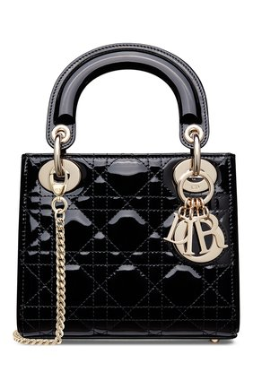 Женская сумка lady dior mini DIOR черного цвета, арт. M0505OWCBM900   Фото 1