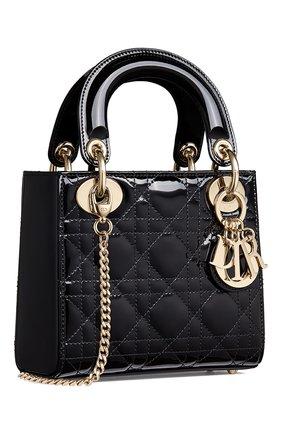 Женская сумка lady dior mini DIOR черного цвета, арт. M0505OWCBM900   Фото 2