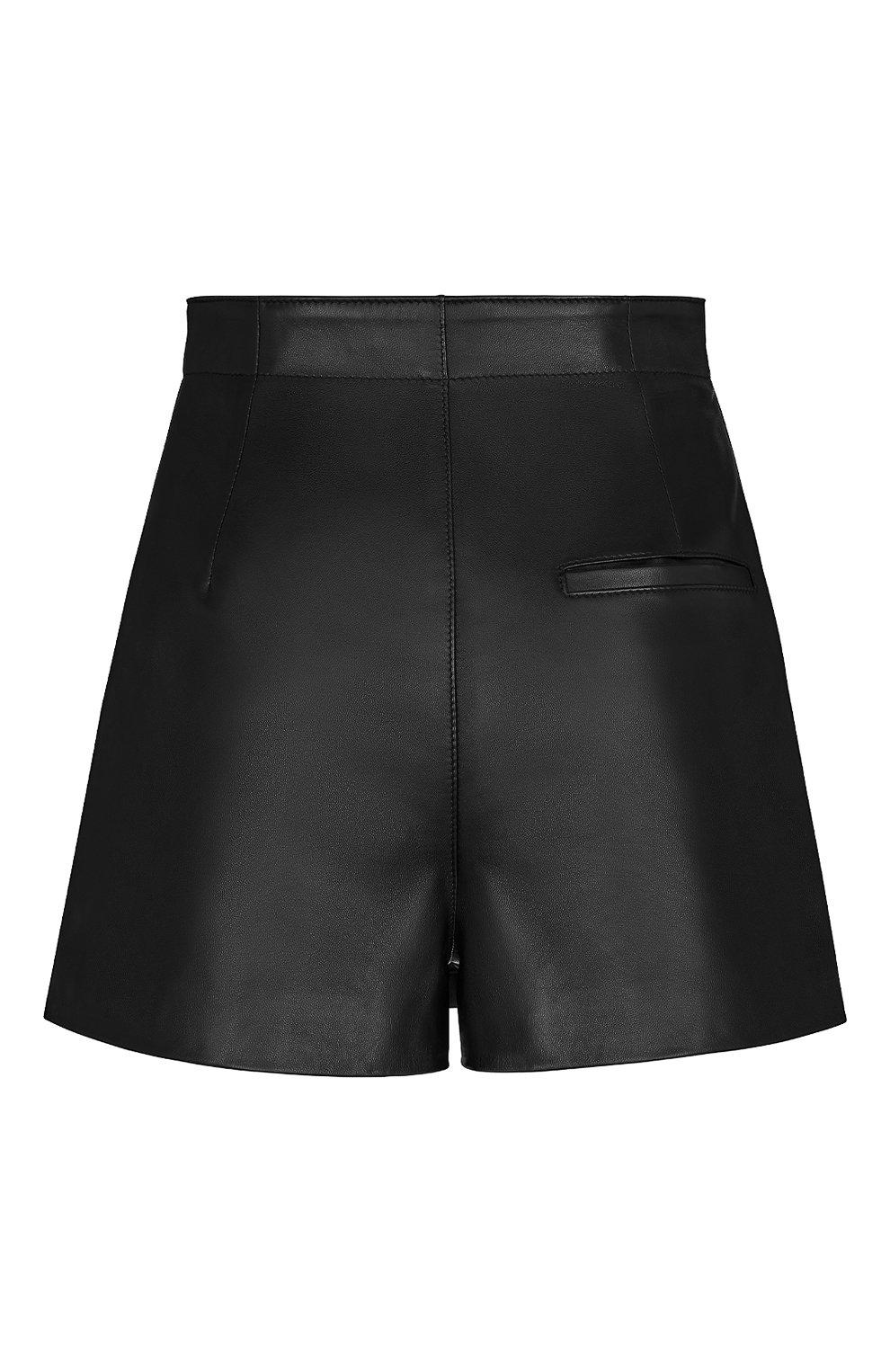 Женские кожаные шорты DIOR черного цвета, арт. 045P45AL015X9000   Фото 2 (Женское Кросс-КТ: Шорты-одежда; Длина Ж (юбки, платья, шорты): Мини; Стили: Гранж)