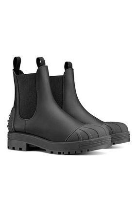 Женские кожаные ботинки dior iron DIOR черного цвета, арт. KDI646CRUS900   Фото 2