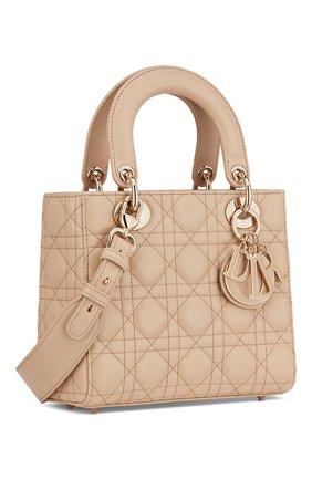 Женская сумка lady dior my abcdior DIOR бежевого цвета, арт. M0538OCEAM39U   Фото 2