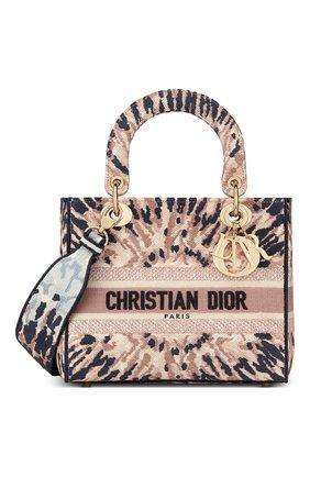 Женская сумка lady d-lite DIOR разноцветного цвета, арт. M0565OJAIM884   Фото 1