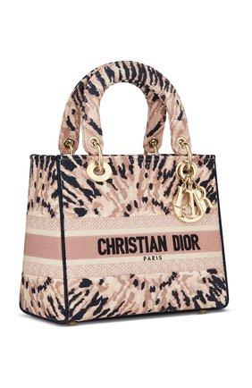 Женская сумка lady d-lite DIOR разноцветного цвета, арт. M0565OJAIM884   Фото 2