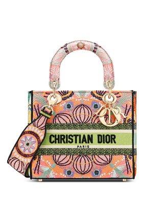 Женская сумка lady d-lite medium DIOR разноцветного цвета, арт. M0565ORLEM885   Фото 1