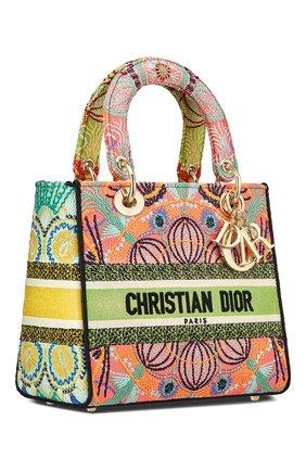 Женская сумка lady d-lite medium DIOR разноцветного цвета, арт. M0565ORLEM885   Фото 2