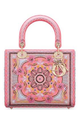 Женская сумка lady dior medium DIOR розового цвета, арт. M0565OSAQM929   Фото 1