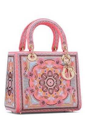Женская сумка lady dior medium DIOR розового цвета, арт. M0565OSAQM929   Фото 2