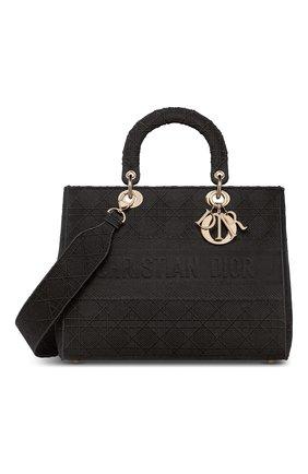 Женская сумка lady d-lite DIOR черного цвета, арт. M0566OREYM989   Фото 1
