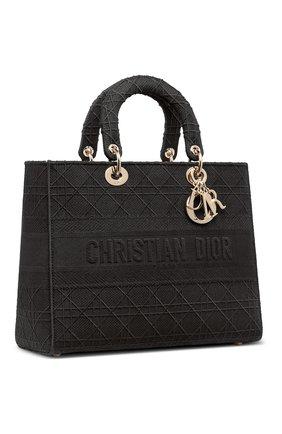 Женская сумка lady d-lite DIOR черного цвета, арт. M0566OREYM989   Фото 2