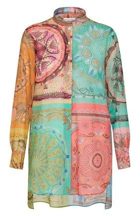 Женская хлопковая рубашка DIOR разноцветного цвета, арт. 111B54A3780X9609   Фото 1