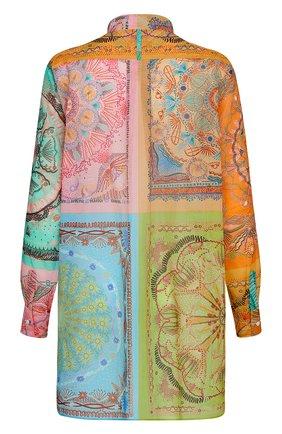 Женская хлопковая рубашка DIOR разноцветного цвета, арт. 111B54A3780X9609   Фото 2