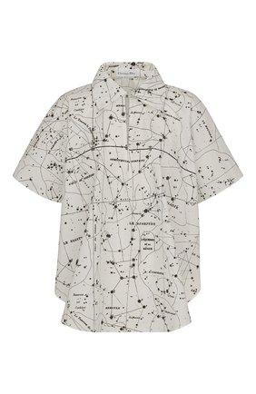 Женская хлопковая рубашка DIOR черно-белого цвета, арт. 111B62A3747X0872   Фото 1