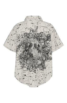 Женская хлопковая рубашка DIOR черно-белого цвета, арт. 111B62A3747X0872   Фото 2