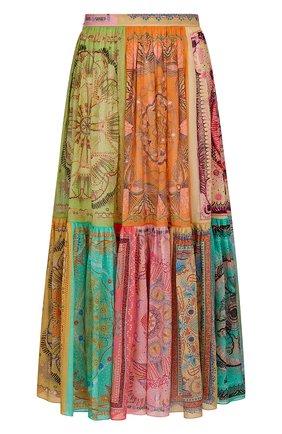 Женская хлопковая юбка DIOR разноцветного цвета, арт. 111J62A3780X9609   Фото 1