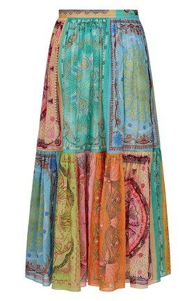 Женская хлопковая юбка DIOR разноцветного цвета, арт. 111J62A3780X9609   Фото 2