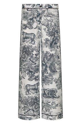 Женские пижамные брюки DIOR темно-синего цвета, арт. 111P38A6805X0861 | Фото 1