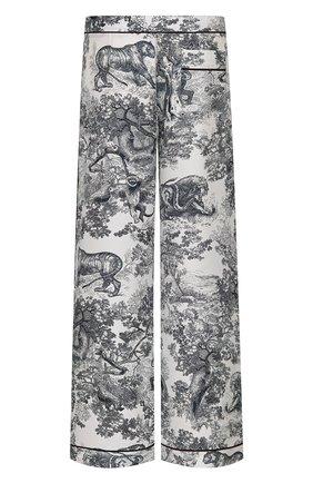 Женские пижамные брюки DIOR темно-синего цвета, арт. 111P38A6805X0861 | Фото 2