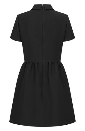 Женское платье из смеси шерсти и шелка DIOR черного цвета, арт. 111R07A1166X9000   Фото 2