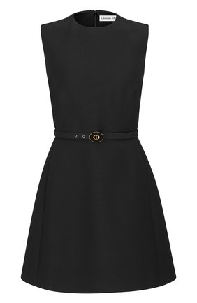 Женское платье из смеси шерсти и шелка DIOR черного цвета, арт. 111R16A1166X9000   Фото 1