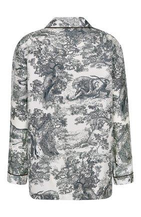Женская шелковая рубашка DIOR темно-синего цвета, арт. 111V33A6805X0861 | Фото 2