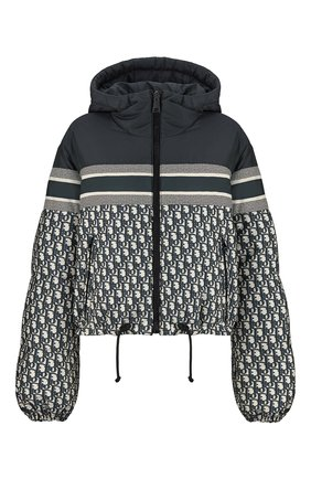 Женская двусторонняя куртка DIOR синего цвета, арт. 117C21A2968X5803 | Фото 1 (Кросс-КТ: Куртка; Материал внешний: Синтетический материал; Стили: Спорт-шик)