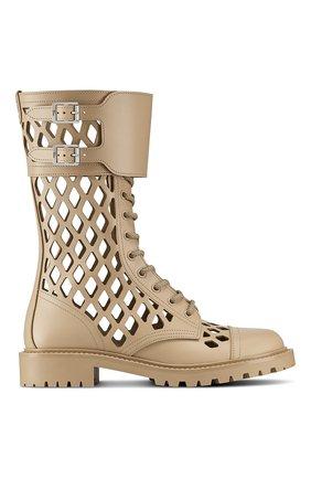 Женские кожаные ботинки d-trap DIOR бежевого цвета, арт. KCI601CFMS16T | Фото 1