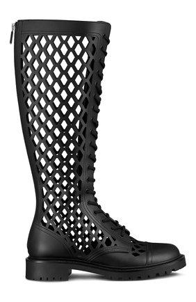 Женские кожаные сапоги d-trap DIOR черного цвета, арт. KCI655CFMS900   Фото 1