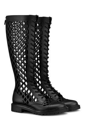 Женские кожаные сапоги d-trap DIOR черного цвета, арт. KCI655CFMS900   Фото 2
