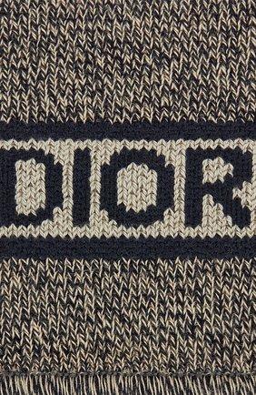 Женские хлопковые носки DIOR темно-синего цвета, арт. 114E47AM726X5803 | Фото 2