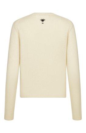 Женский кашемировый свитер DIOR бежевого цвета, арт. 114S26AM012X0810 | Фото 2