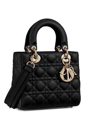 Женская сумка lady dior my abcdior DIOR черного цвета, арт. M0538OCALM900   Фото 2