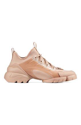 Женские комбинированные кроссовки d-connect DIOR розового цвета, арт. KCK222NGGS12U   Фото 1