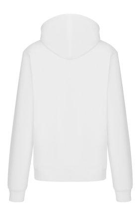 Мужской хлопковое худи DIOR белого цвета, арт. 043J646A0531C088   Фото 2 (Мужское Кросс-КТ: Худи-одежда; Материал внешний: Хлопок; Стили: Гранж; Принт: С принтом)