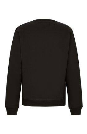 Мужской хлопковый свитшот DIOR черного цвета, арт. 043J655A0531C988   Фото 2