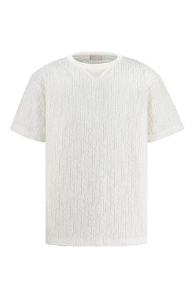 Мужская хлопковая футболка DIOR белого цвета, арт. 113J692A0614C020   Фото 1 (Материал внешний: Хлопок; Рукава: Короткие; Принт: С принтом; Стили: Кэжуэл)